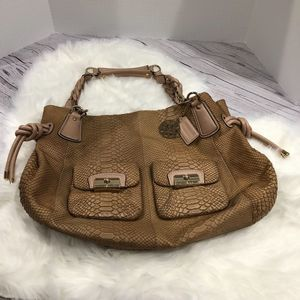 Coach Snakeskin Leather Tote